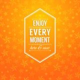 Aquí y ahora disfrute de cada momento. Fotografía de archivo libre de regalías