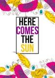 Aquí viene el Sun Fotos de archivo