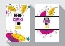 Aquí viene el Sun Fotografía de archivo