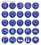 Aqua σύνολο-καιρός-μπλε εικονιδίων Στοκ φωτογραφίες με δικαίωμα ελεύθερης χρήσης