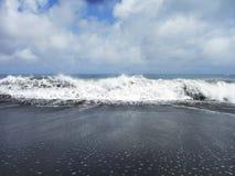 Aqua χτενών με τους παφλασμούς Στοκ Εικόνα