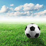 футбол горящего стекла шарика aqua Стоковые Фотографии RF