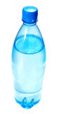 Aqua. In bottle isolated on a white royalty free stock photos