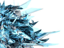 Aqua Abstract. A sharp, glass-like, highly detailed, rendered abstract royalty free illustration