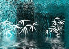 aqua abstrakcyjne tło ilustracji