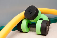 Aqua Aerobics Equipment Royalty Free Stock Photo