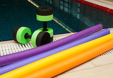 Aqua Aerobics Equipment Stock Images