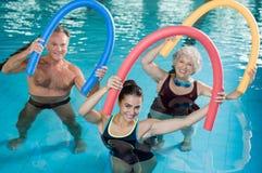 Aqua aerobics with seniors Stock Photography
