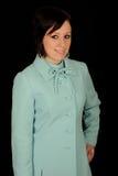 aqua żakiet jest ubranym kobiety Obrazy Royalty Free
