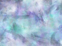 Aqua akwareli papieru Błękitny Purpurowy tło Zdjęcia Stock
