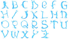 Aqua alphabet Royalty Free Stock Photography