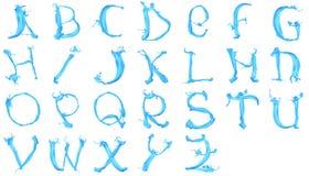 Aqua alphabet. Isolated on white background Royalty Free Stock Photography