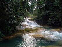 Aqua Azul siklawa, Chiapas, Meksyk Obrazy Stock