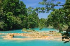 Aqua Azul vattenfall, Chiapas, Mexico Fotografering för Bildbyråer