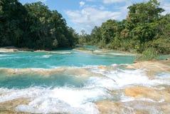 Aqua Azul-Wasserfall auf Chiapas Stockbild