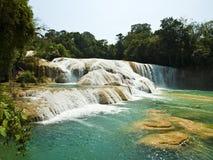 Aqua Azul waterfall. In Chiapas Mexico Stock Photo