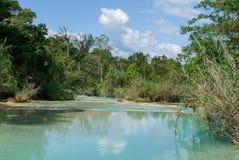 Aqua Azul waterfall on Chiapas Royalty Free Stock Image