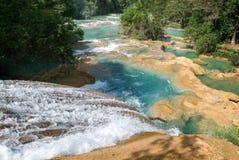 Aqua Azul waterfall on Chiapas Royalty Free Stock Photos