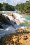 Aqua Azul waterfall on Chiapas Stock Image
