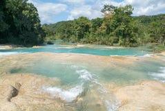 Aqua Azul waterfall on Chiapas Stock Images