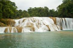 Aqua Azul waterfall Stock Images