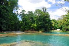 Aqua Azul-waterval, Chiapas, Mexico Stock Foto