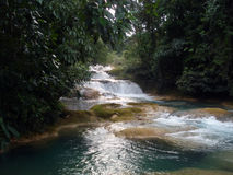 Aqua Azul-waterval, Chiapas, Mexico Stock Afbeeldingen