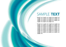 Aqua background. Aqua abstract template with copy space Royalty Free Stock Photography