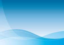 Aqua background. Simple blue illustrated waves background, vector eps Royalty Free Stock Photography