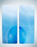 Aqua Background Card Vector Iillustration astratta Fotografia Stock