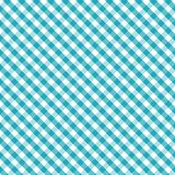 aqua background cross gingham seamless weave 免版税库存图片