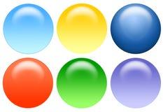 Aqua Balls. 3D Balls Royalty Free Stock Images