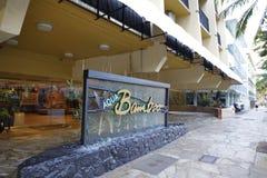 Aqua Bamboo Resort Waikiki Hawaii Royaltyfri Foto