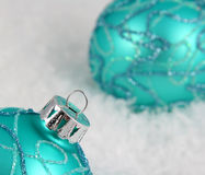 Aqua Baubles Stock Photography