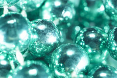 Aqua Beads Close acima do fundo Fotografia de Stock
