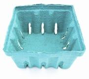 Aqua Berry Basket vuota immagine stock
