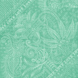 Aqua blue Antique Floral Damask Background. A blue, aqua floral damask textural background for scrapbooking and design, 12x12 inches in size Royalty Free Stock Photography
