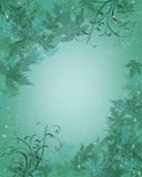 Aqua Blue Background leaves Royalty Free Stock Images