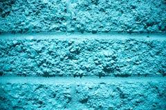 Aqua Blue Brick Wall Background immagine stock libera da diritti