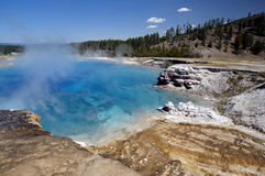 Aqua Blue Grand Prismatic Springs Royalty Free Stock Photography