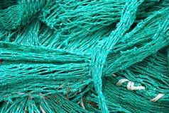 Aqua blue green netting Stock Photography
