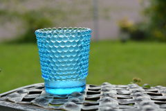 Aqua Blue Hobnail glass Stock Images