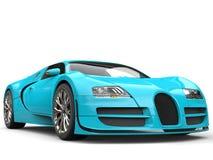 Aqua blue modern super sports car Stock Photo