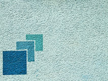 Aqua blue paint wall with pattern Stock Photography