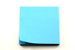 Aqua Blue Sticky Notes with corner curling Royalty Free Stock Photo