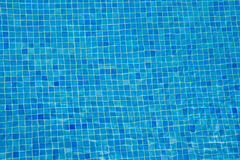 Aqua blue tile underwater background Royalty Free Stock Photo