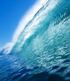 Aqua Blue Wave Stock Images