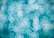 Aqua bokeh of circle light background Royalty Free Stock Photos