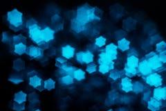 Aqua bokeh in de vorm van pentagoon Stock Afbeeldingen
