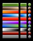 Aqua/botones de cristal del Web Imágenes de archivo libres de regalías